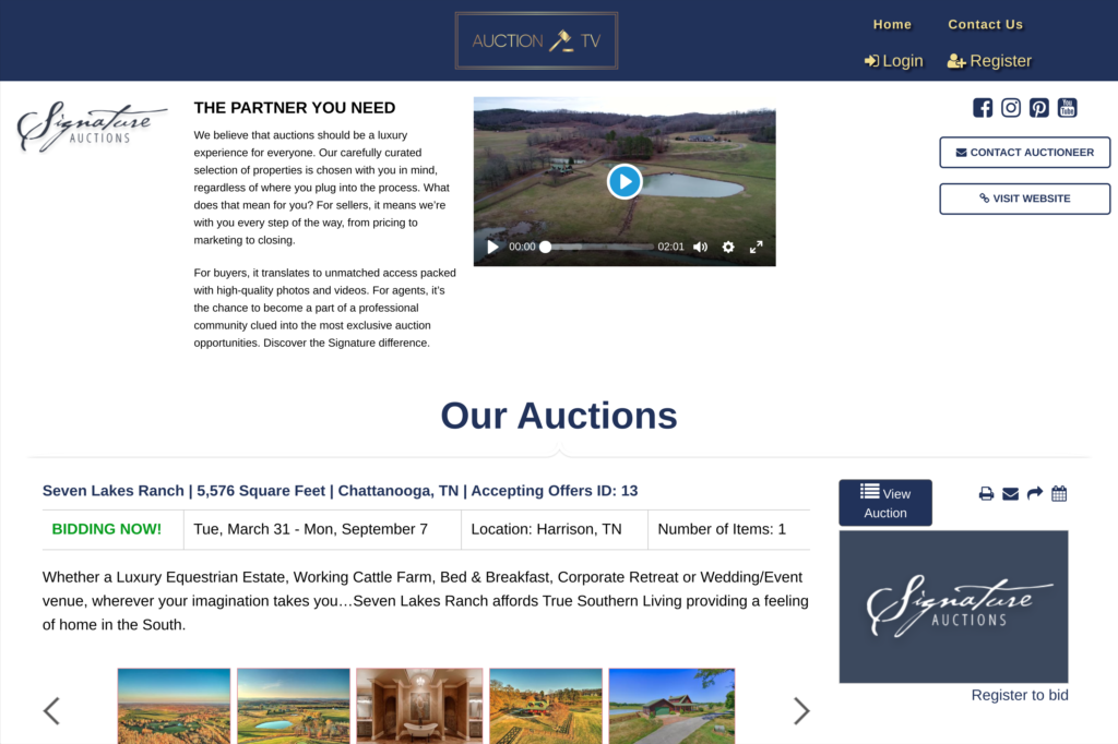 Auction House Page